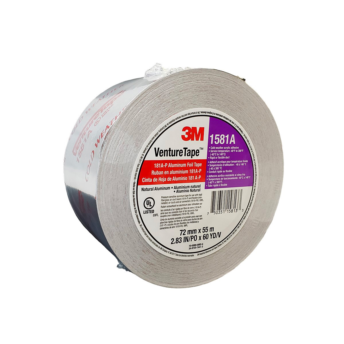 3m Venture Tape Ul181a P Aluminum Foil Tape 1581a J R Products Inc